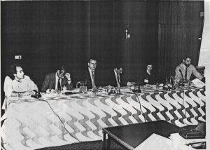FISEA - Panel FM Synthesis - Left to right: Craig Harris, Isuo Sakane, Mark Resch, Allister Livigstone, Fransesca da Rimini, Roger Malina