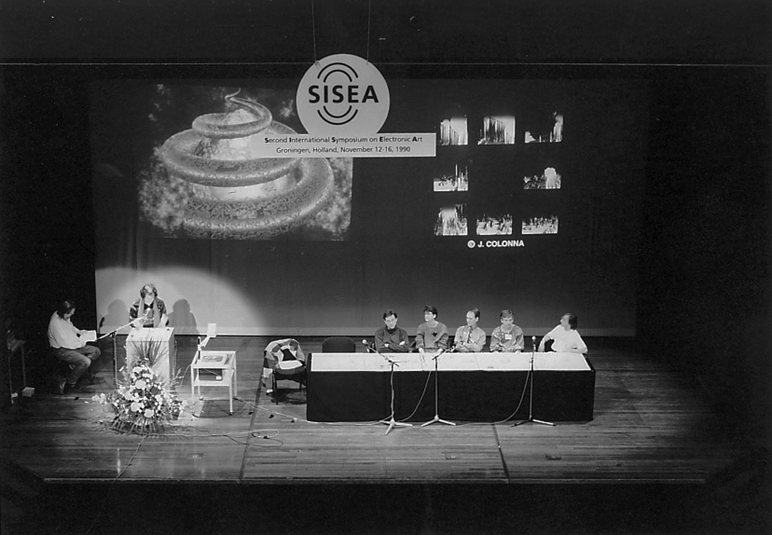 ©SISEA: Second International Symposium on Electronic Art, Carl Eugene Loeffler, Vernon Reed, Fred Truck, and Benjamin J. Britton, Interactive Electronic Art