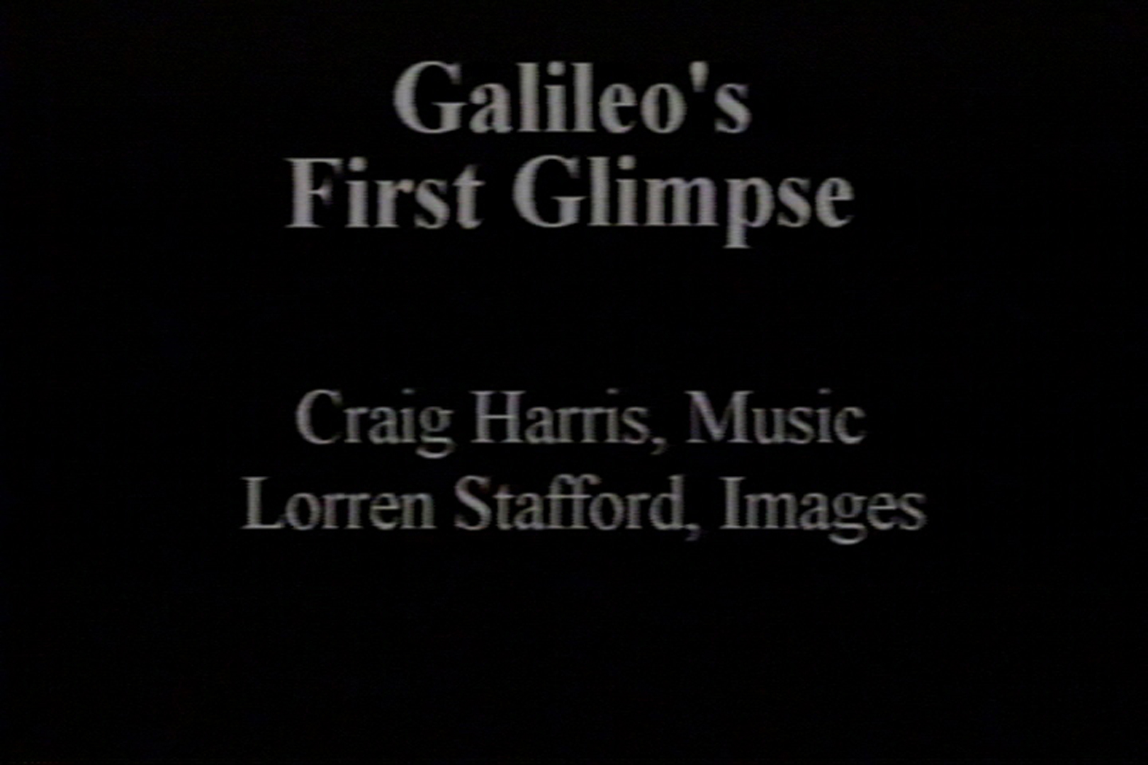 ©, , Galileo's First Glimpse