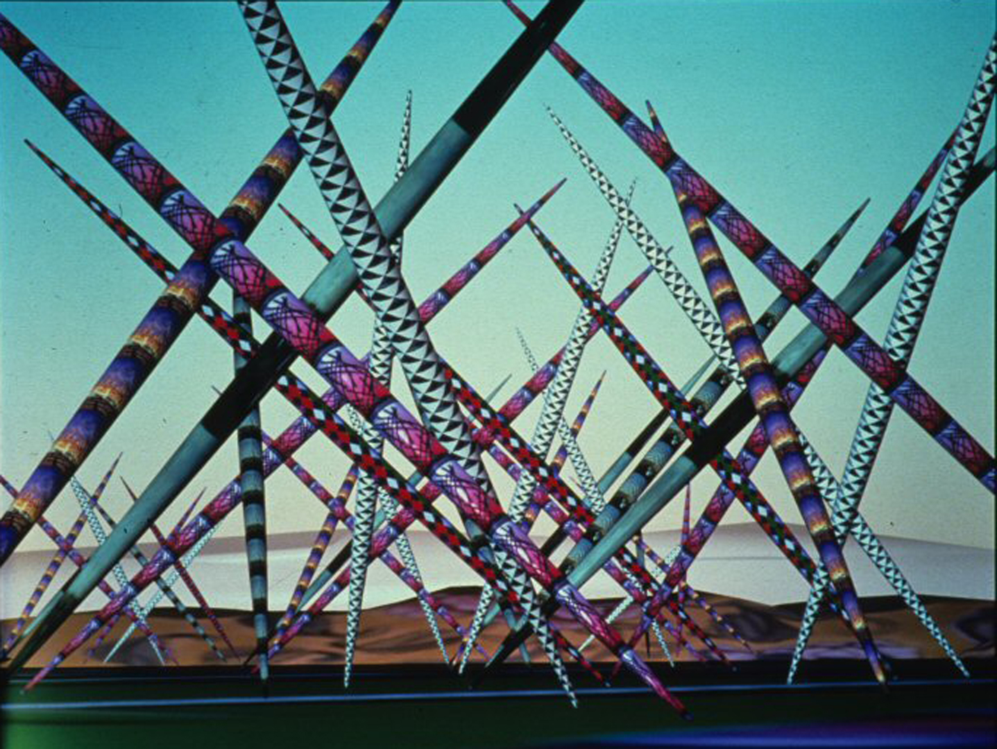©1988, Kenneth Snelson, Pole Scape