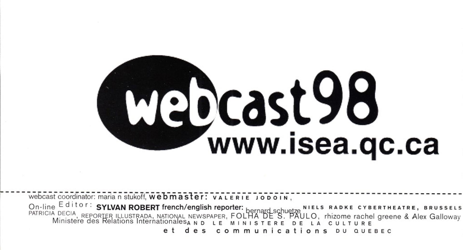 ©, ISEA HQ, ISEA98 Webcast