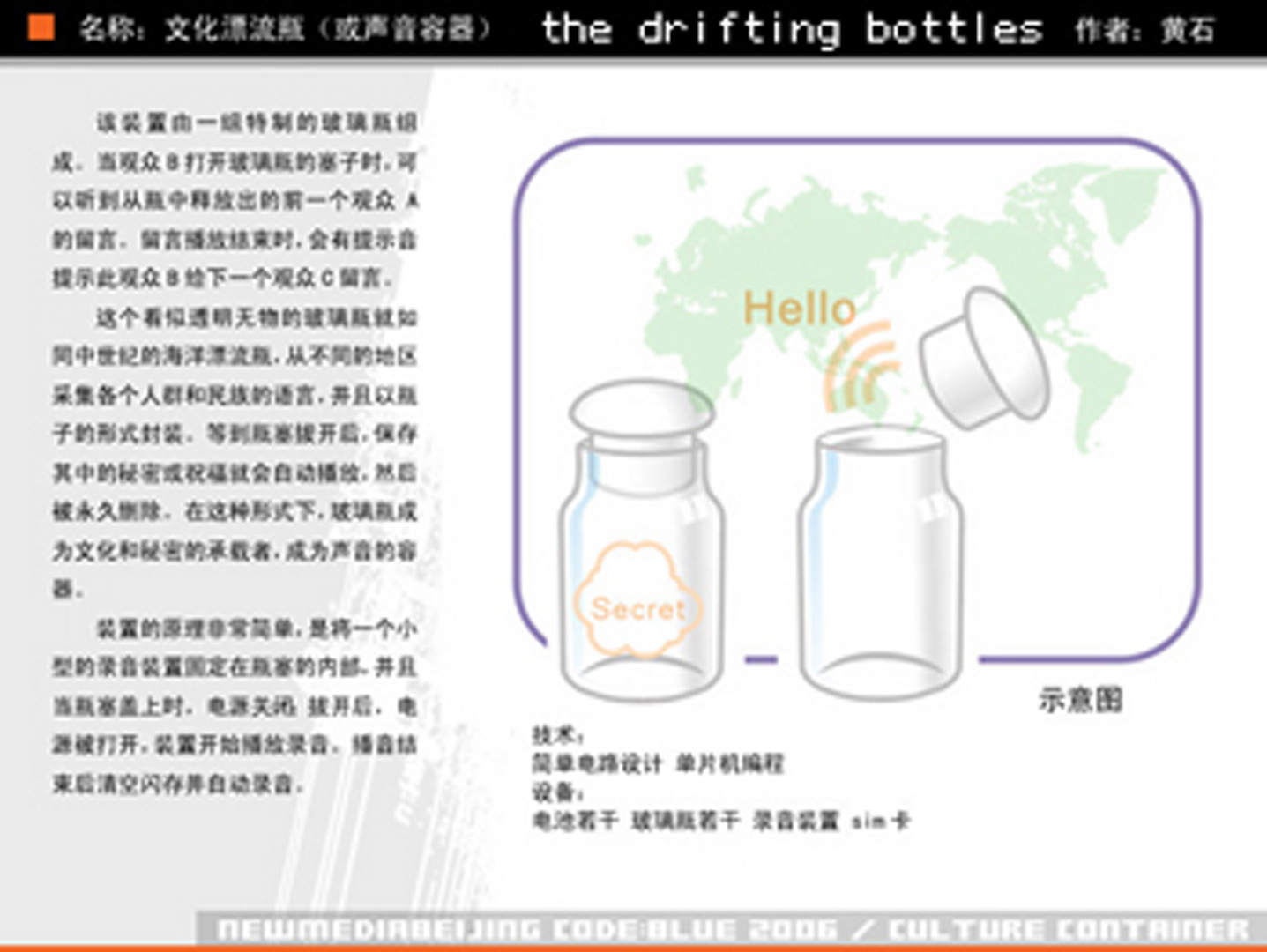 ©, Huang Shi, Drift Bottles
