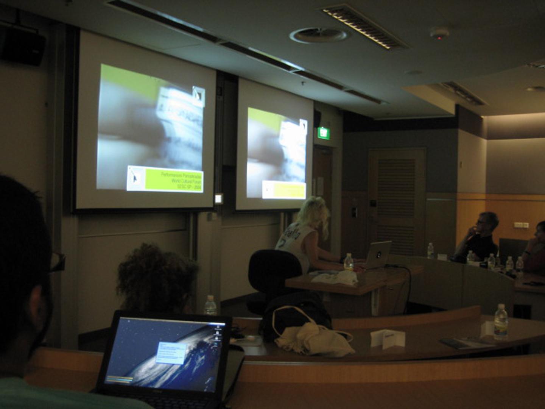 ©ISEA2008: 14th International Symposium on Electronic Art, Milena Szafir and Mariana Kadlec, Post-Panoptic Era: Liquid Rethorics in Mobile Networks