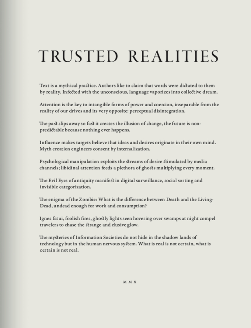 ©, Konrad Becker, Trusted Realities