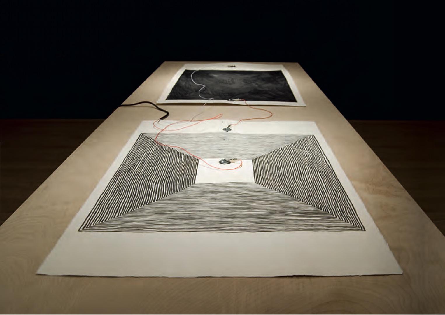 ©2010, Joyce Hinterding, Loops and Fields: Induction Drawings Series 3