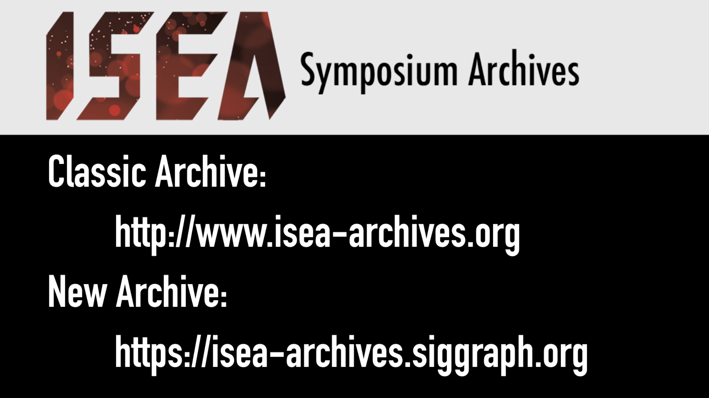 ISEA Archives URLs
