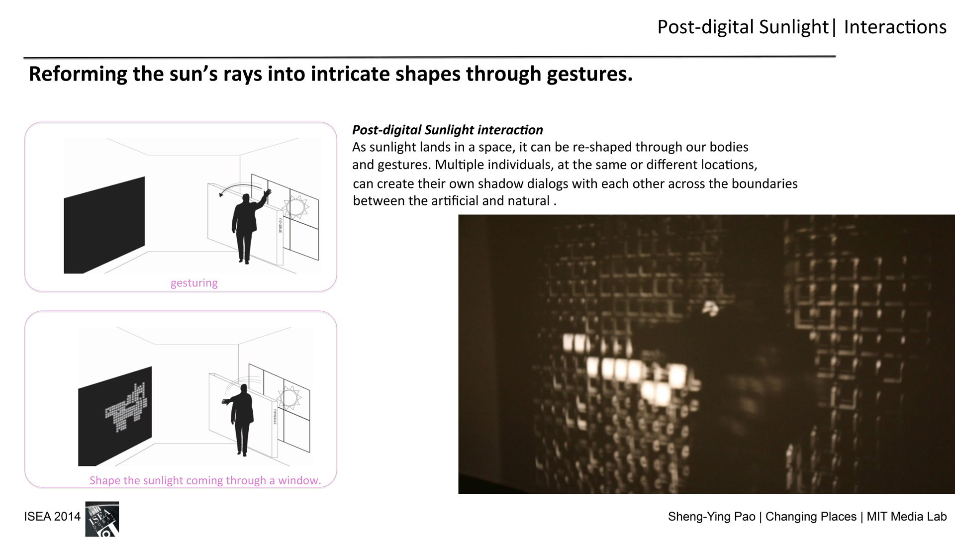 ©, Sheng-Ying Pao, PostDigital Sunlight: Participatory Space Crossing Virtual and Physical, Artificial and Natural