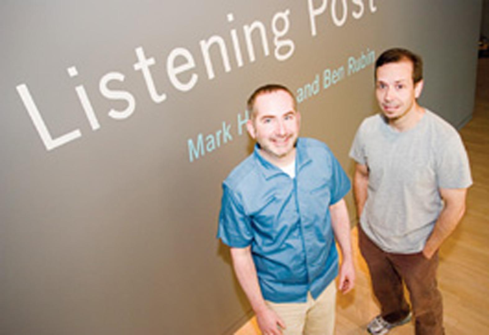 ©, Mark Hansen and Ben Rubin, Listening Post (2002-6)