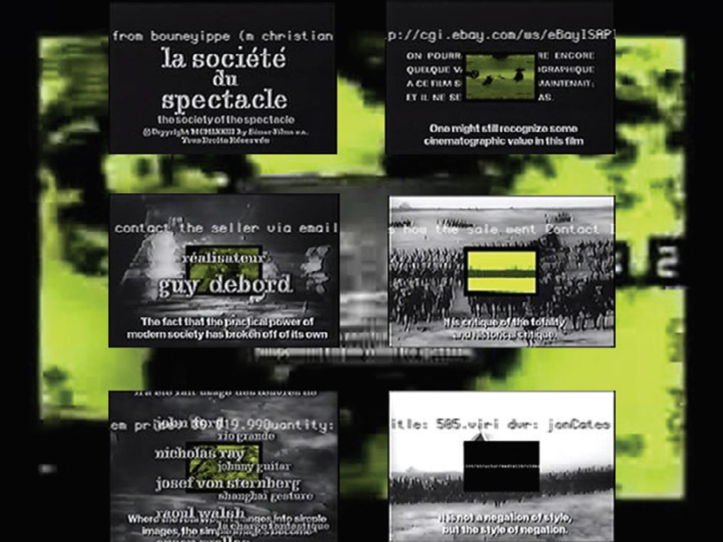 ©green.qt_slippage.mov (1999), 505.VIRI (2005), Broken Phone Gradient (2015), Small Horn (2015), jonCates, green.qt_slippage.mov, 505.VIRI, Broken Phone Gradient and Small Horn