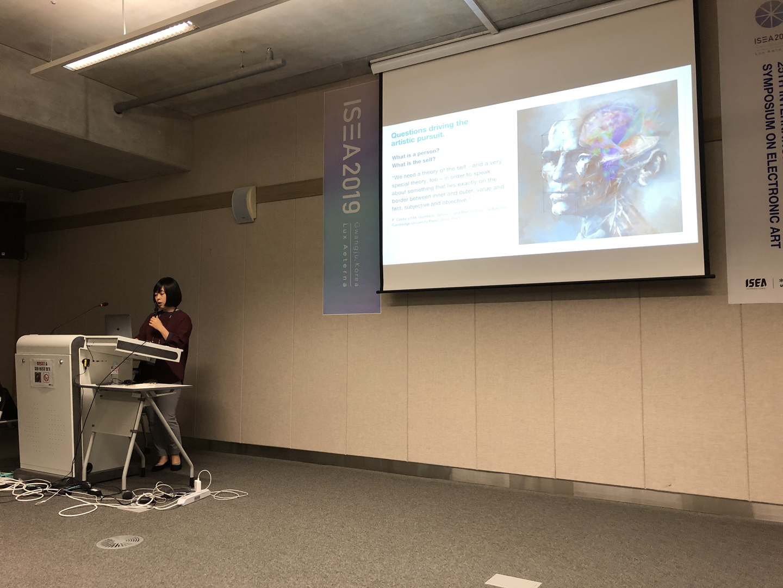 "©ISEA2019: 25th International Symposium on Electronic Art, Anatol Bologan, Jinsil Hwaryoung Seo, Joseph Orr, and Vidya Sridhar, ""The Transmediated Self"": An Interactive and Visual Metaphor of Human Cognition"