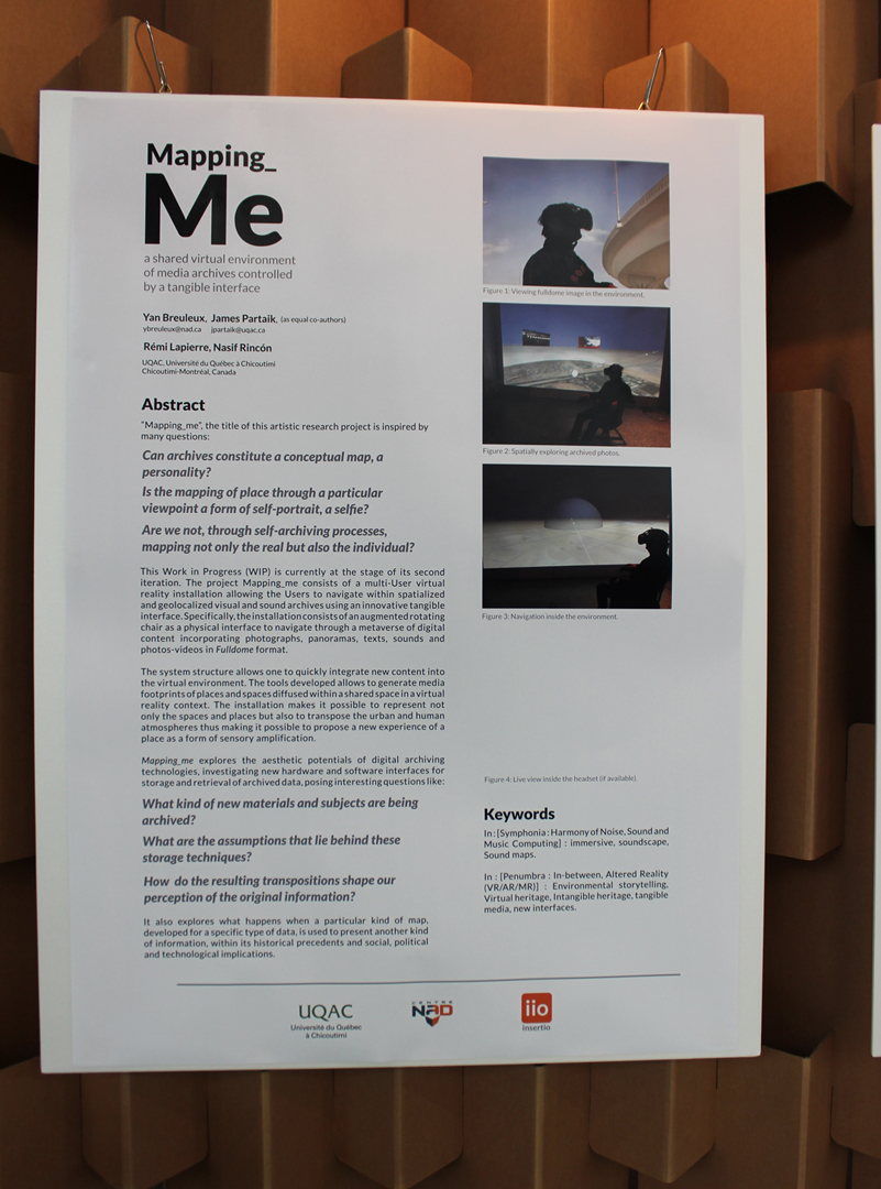 ©ISEA2019: 25th International Symposium on Electronic Art, Yan Breuleux, James Partaik, and Rémi Lapierre, Mapping_Me: A Shared Virtual Environment of Media Archives Controlled by a Tangible Interface