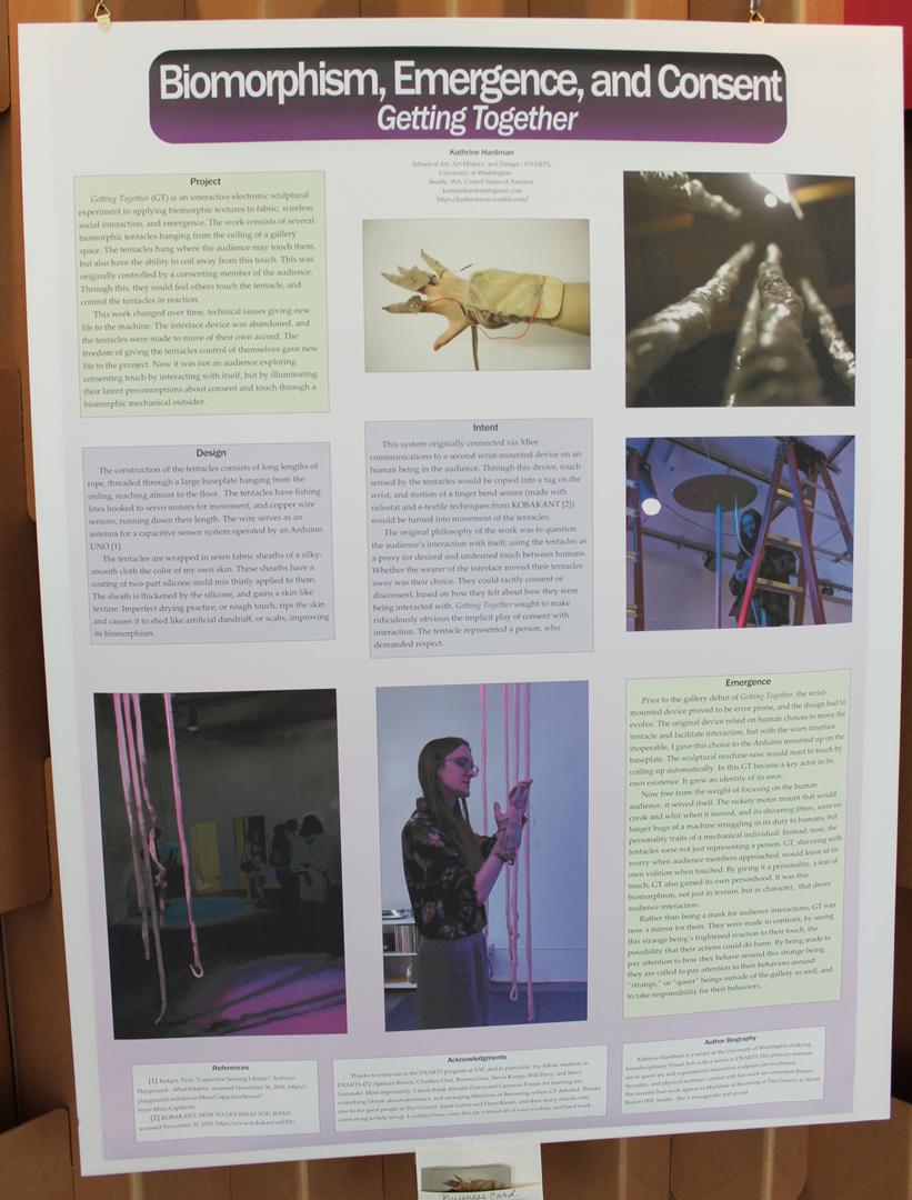 ©ISEA2019: 25th International Symposium on Electronic Art, Kathrine Hardman, Getting Together: Biomorphism and Emergence