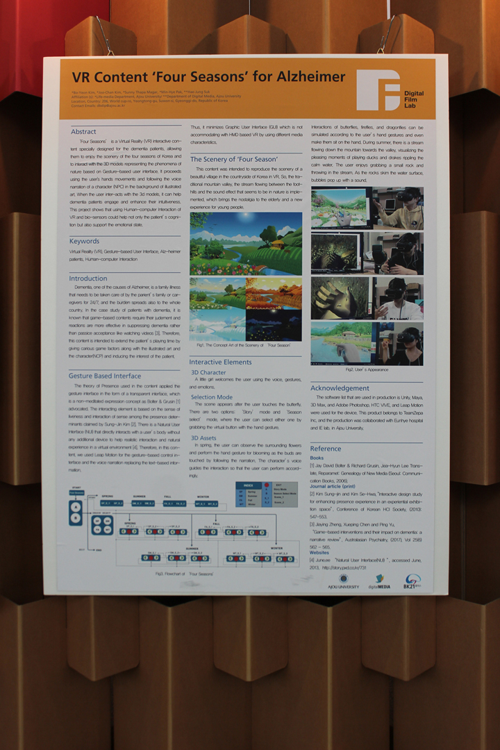 ©ISEA2019: 25th International Symposium on Electronic Art, Bo-Yeon Kim, Joo-Chan Kim, Sunny Thapa Magar, Min-Hye Pak, and Hae-Jung Suk, VR Content 'Four Seasons' for Alzheimer