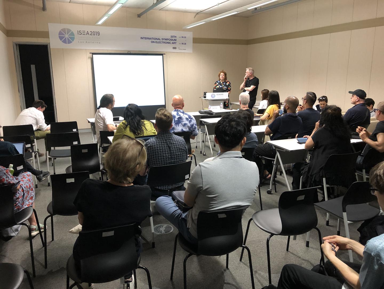 ©ISEA2019: 25th International Symposium on Electronic Art, Ellen Pearlman, AIBO: An Emotionally Intelligent Artificial Intelligence Brainwave Opera – Proof of Concept
