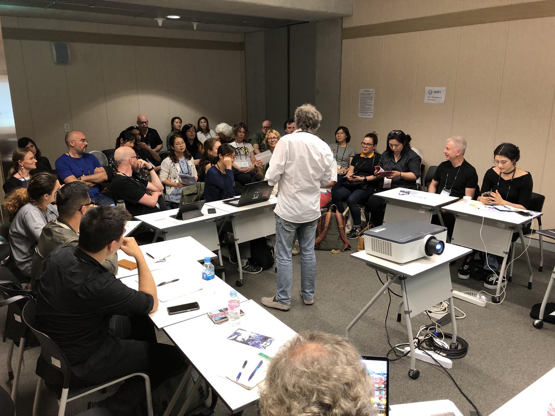 ©ISEA2019: 25th International Symposium on Electronic Art, Wim van der Plas, Electronic Art Archives Platform, A Round Table Discussion