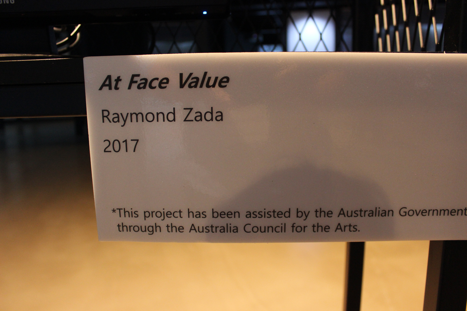 ©, Raymond Zada, At Face Value