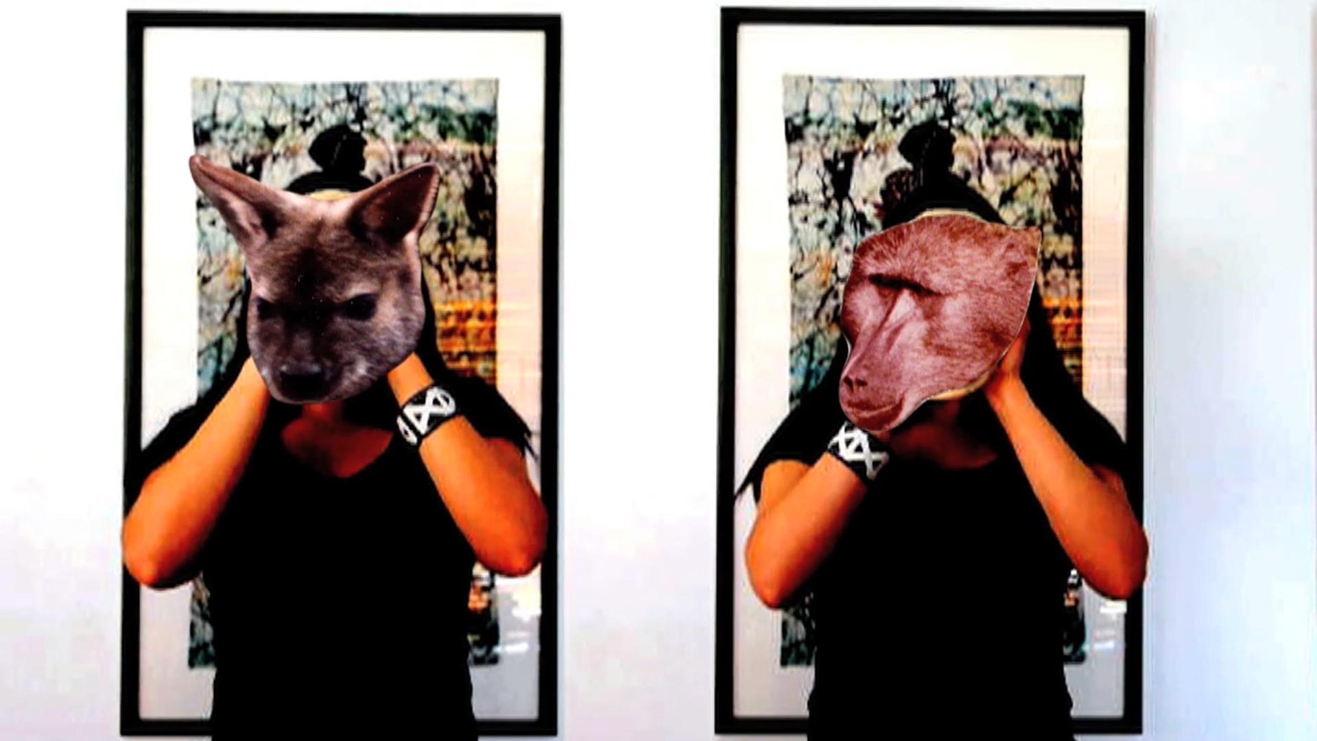 ©ISEA2016: 22nd International Symposium on Electronic Art, Amelia Johannes, Family Crockery (Whiteness) + Signifiers of Ritual Mask (Animals) + Planting Ritual, Video Artworks 2011–2013