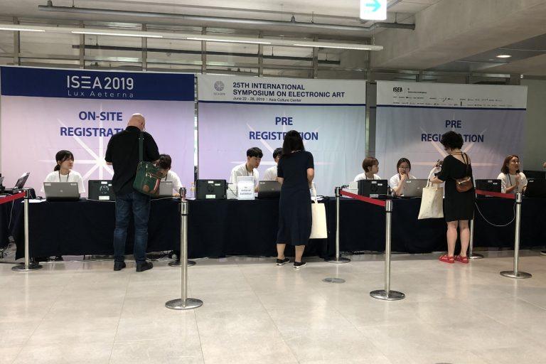 ISEA2019 Registration desk