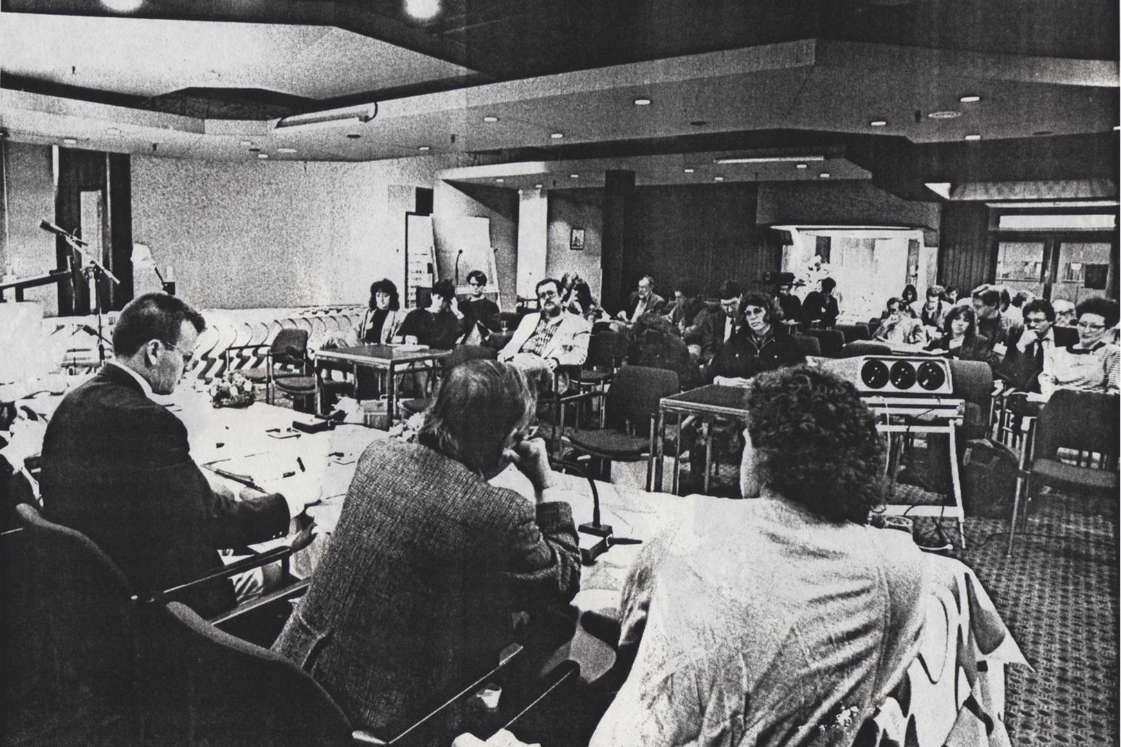 ©FISEA: First International Symposium on Electronic Art, Theo Hesper, Roy Ascott, Jürgen Claus, Roger F. Malina, and Raymond Lauzzana, Founding Meeting Inter-Society for the Electronic Arts