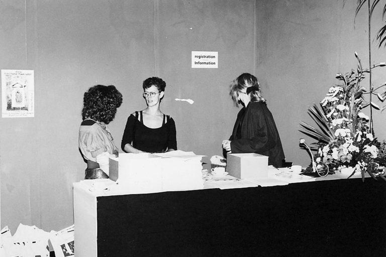 SISEA Registration Desk at the Oosterpoort